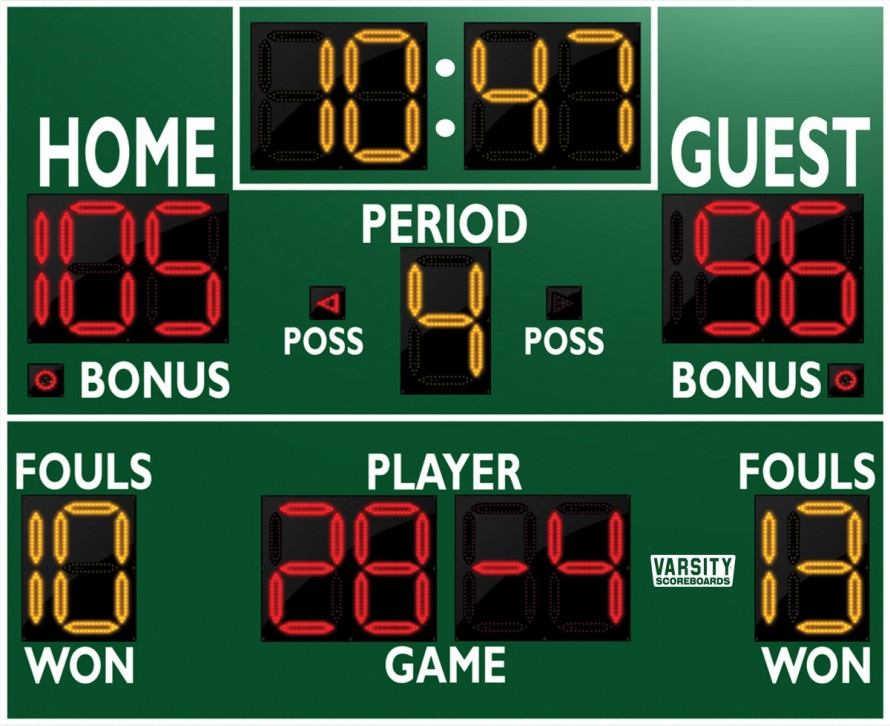 2240 Basketball/Multisport Scoreboard