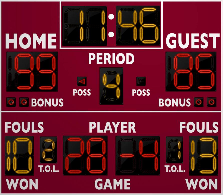 2240 Basketball/Multisport Scoreboard