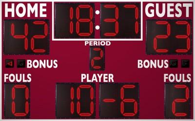 2246OD Basketball/Multisport Scoreboard
