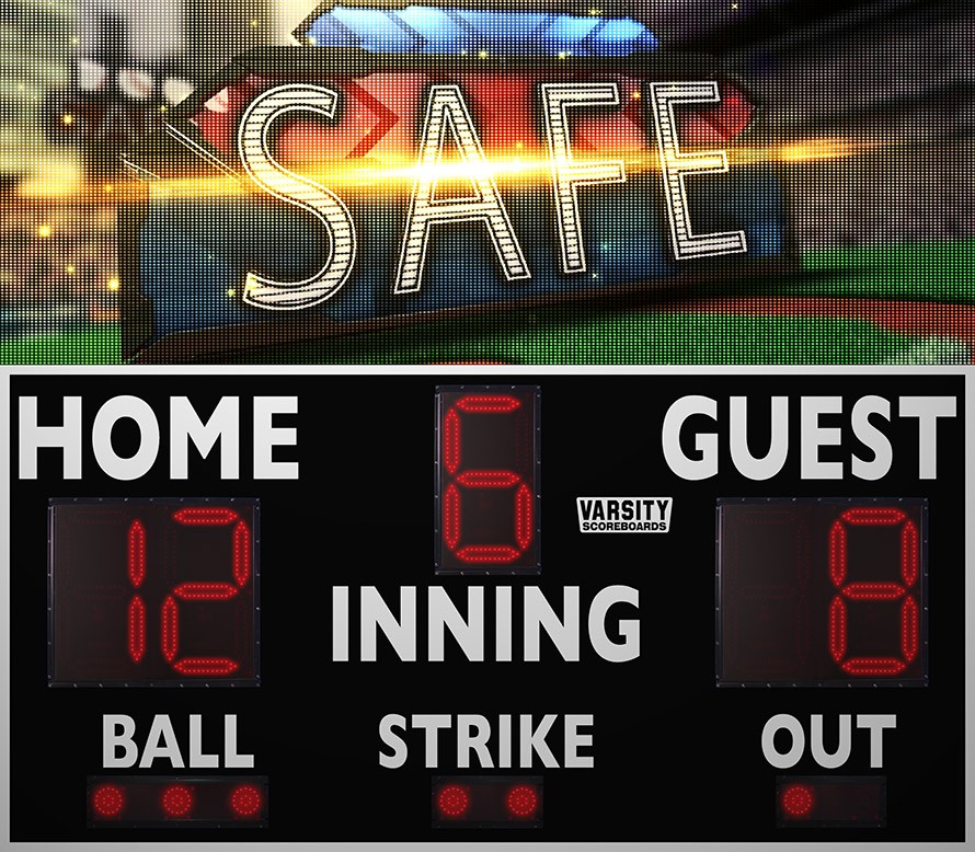 3214 Baseball Scoreboard with Video Display