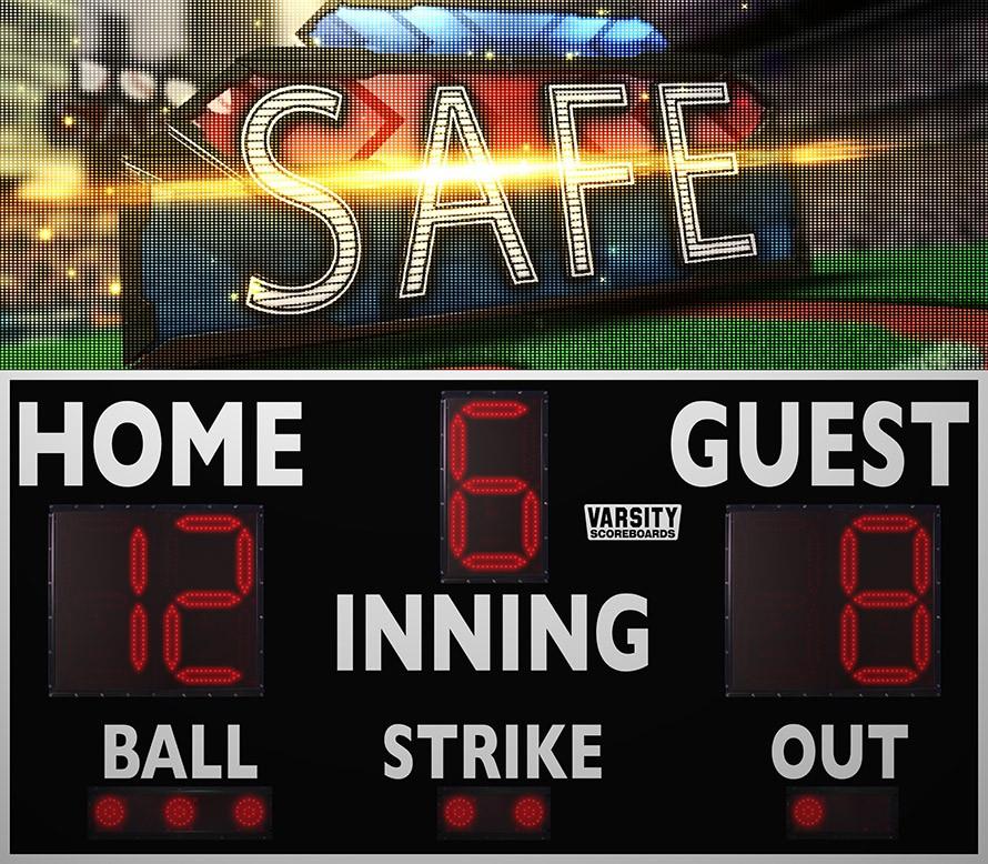 3214 Baseball Scoreboard with Video Display