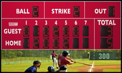 3217 Baseball Scoreboard with Video Display