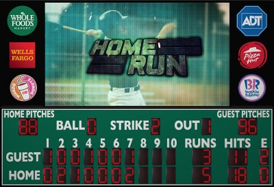3225 Baseball Scoreboard with Video Display