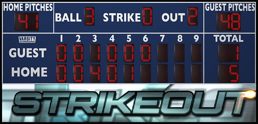 3259 Baseball Scoreboard with Video Display