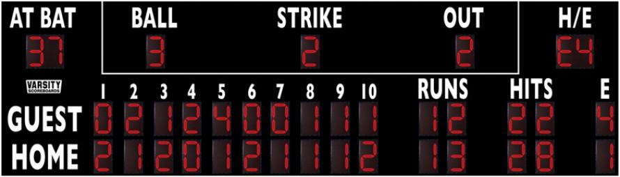 3328 Baseball/Softball Scoreboard