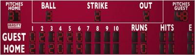 3328PC Baseball/Softball Scoreboard