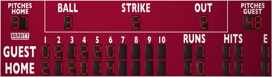 3398 Baseball/Softball Scoreboard