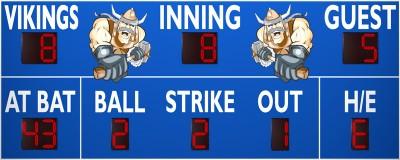 3391 Baseball/Softball Scoreboard