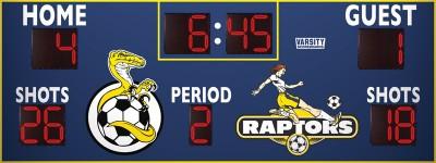 3416 Soccer/Multisport Scoreboard