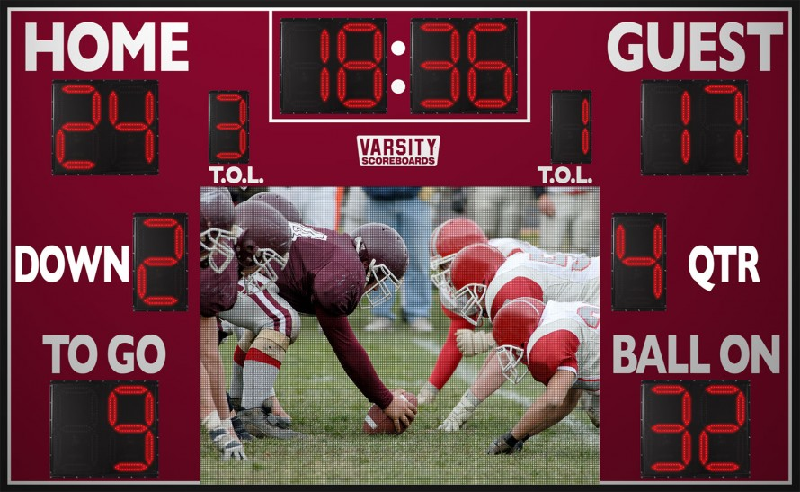 7217 Football Scoreboard with Video Display