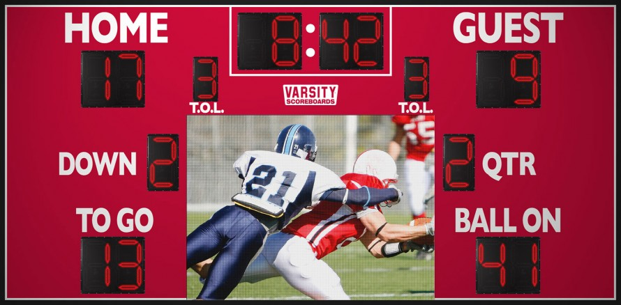 7221 Football Scoreboard with Video Display