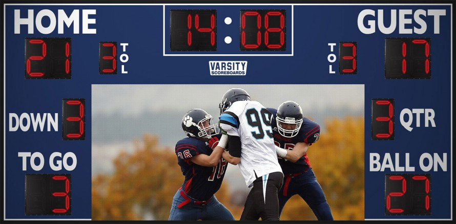 7221WS Football Scoreboard with Video Display