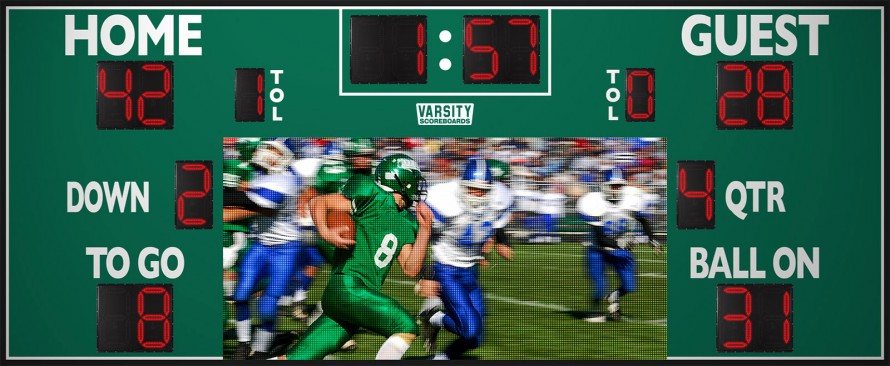 7225 Football Scoreboard with Video Display