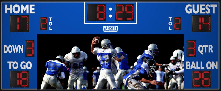 7225WS Football Scoreboard with Video Display