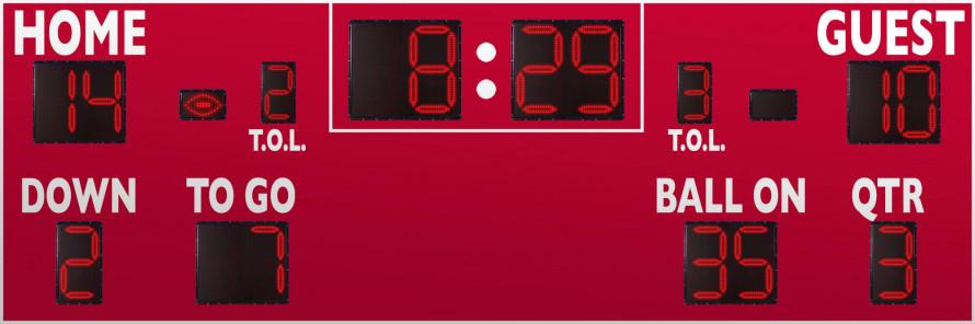 7424 Football Scoreboard
