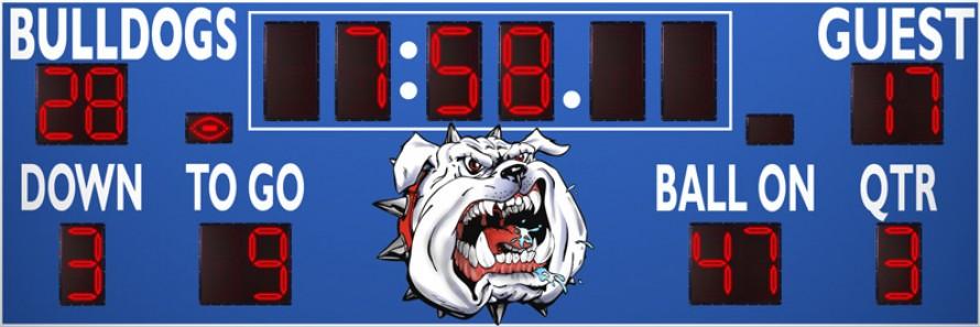 7524 Football Scoreboard