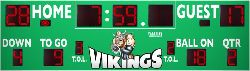 7528 Football Scoreboard