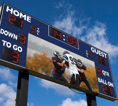 Football Scoreboards with Built-In Video Display